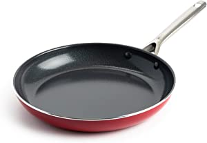 Red Volcano Textured Ceramic Nonstick Frying Pan/Skillet, 12
