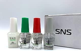 SNS Gel Base Top EA Bond Sealer Dry Coat Natural Healthy Plus Set for Do It Yourself Home Nails Starter Kit Dipping Powder