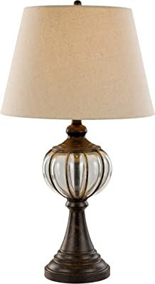 Antique Gold Finish 26-Inch Fangio Lighting 6170 Resin Table Lamp