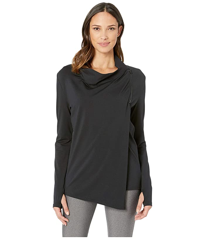 SHAPE Activewear Odyssey Wrap Sweater (Black) Women