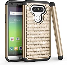 LG G5 Case, TILL(TM) Studded Rhinestone Crystal Bling Shock Absorbing Hybrid Dual Layer TPU Rubber Plastic Defender Rugged Slim Combo Case Cover For LG G5 AT&T T-mobile Sprint Verizon Unlocked [Gold]