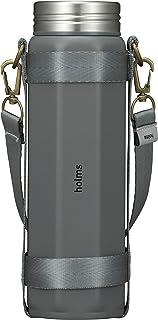 シービージャパン 水筒 グレー 460ml 直飲み 真空断熱 ステンレスボトル 専用ホルダー付き オクタボトル holms
