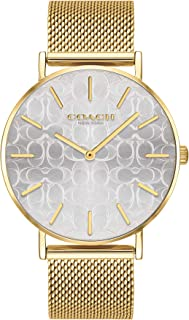 Coach WOMEN'S SILVER DIAL IONIC THIN GOLD PLATED 1 STEEL WATCH - 14503385