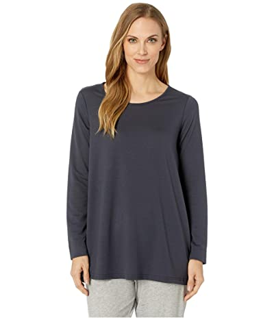 N by Natori Nvious Long Sleeve Top Baby French Terry (Gunmetal) Women