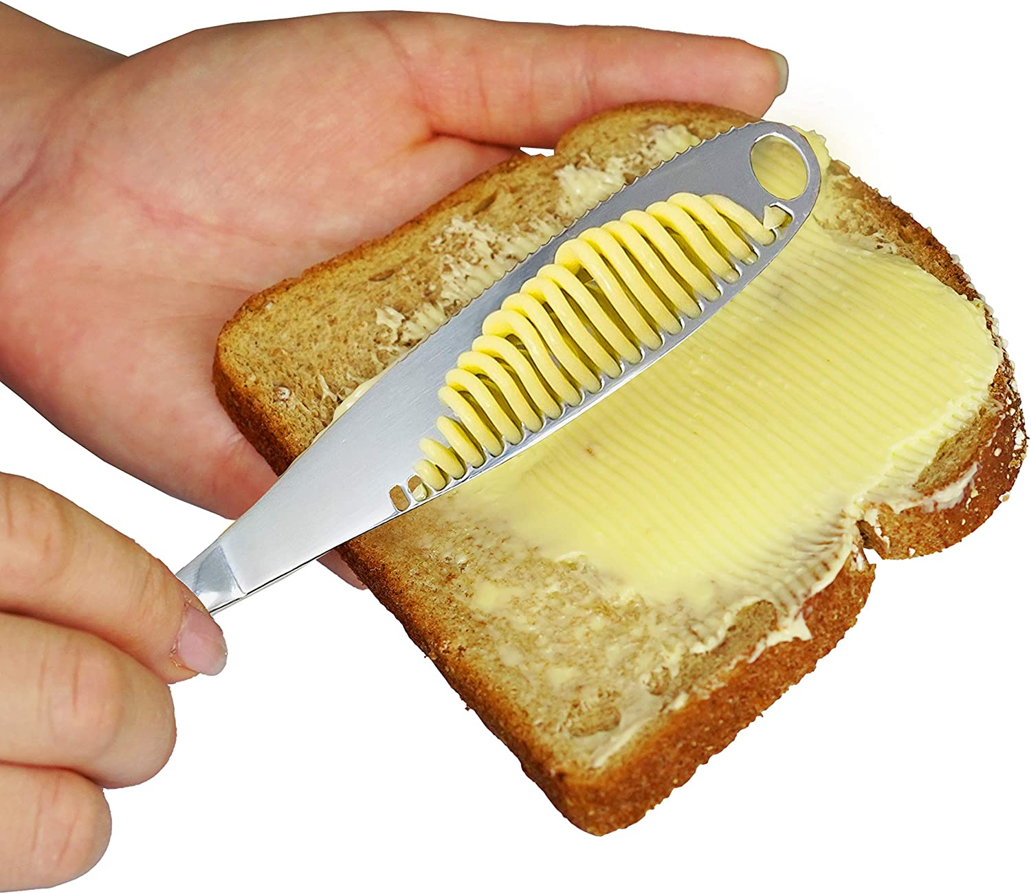 Butter Knife Spreader with Special sale item Holes Bu Arlington Mall Steel Stainless Spread Easy