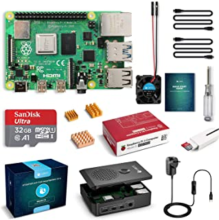 LABISTS Raspberry Pi 4 Complete Starter Kit with Pi 4 Model B 4GB RAM Board, 32GB Micro SD Card Preloaded Noobs, 5V 3A Pow...