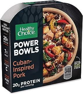 Healthy Choice Power Bowls Frozen Dinner, Cuban-Inspired Pork Bowl, 9.5 Ounce