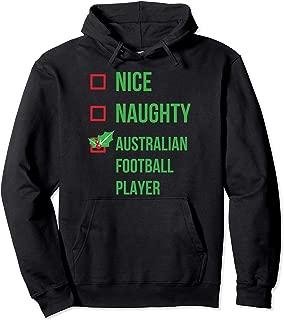 Australian Football Player Funny Pajama Christmas Gift Pullover Hoodie