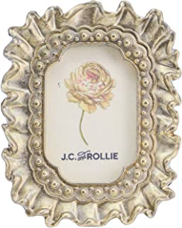J.C. and Rollie Brass Mini Ribbon Frame with Easel