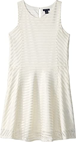 Tommy Hilfiger Kids - Sheer Directional Stripe Dress (Big Kids)