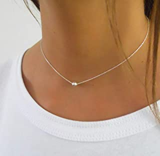 Best dainty silver necklace Reviews