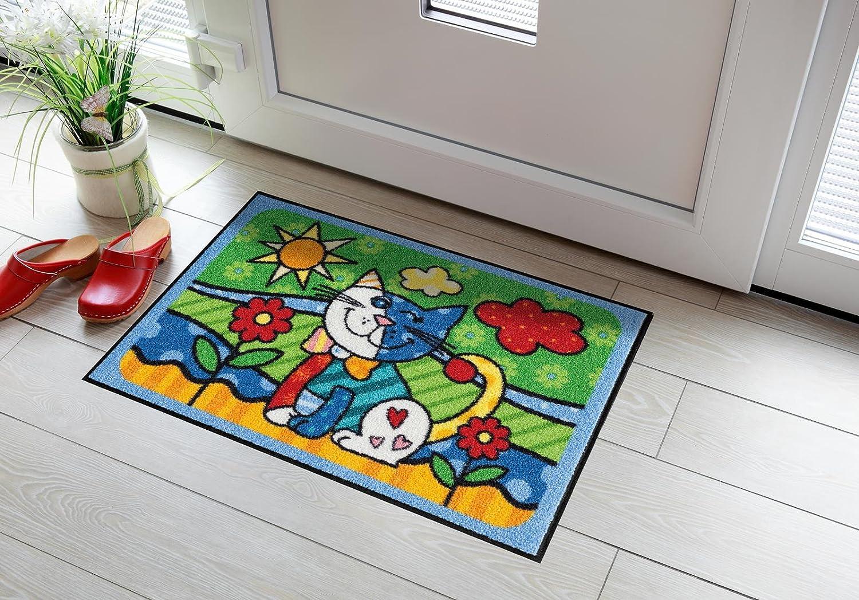 Salonloewe Fußmatte waschbar waschbar waschbar Animalistic Pop Art Cat 50x75 cm SLD0919-050x075 B00NVB05NM 339bdd
