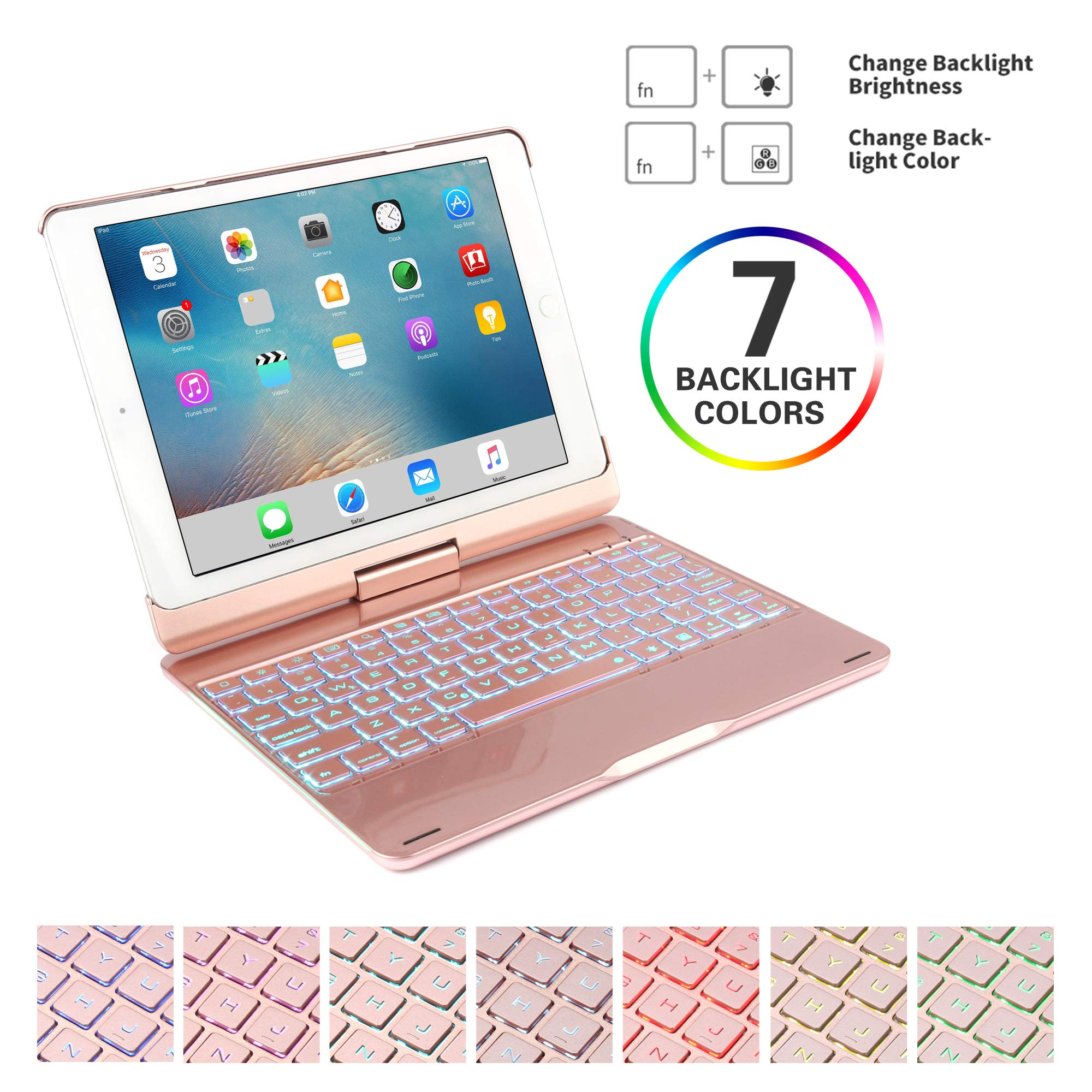 Universal Office Tablet Bluetooth Keyboard 7 Color Backlight Breathing Marquee Chengl Portable Bluetooth Keyboard