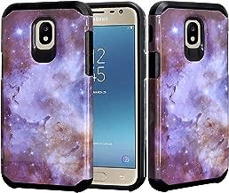 J7 Star Case, Phonelicious Samsung Galaxy J7 Refine, J7V 2nd Gen, J7 2018 Phone Cover Dual Layer Hybrid Slim Fit Screen Protector (Stardust)