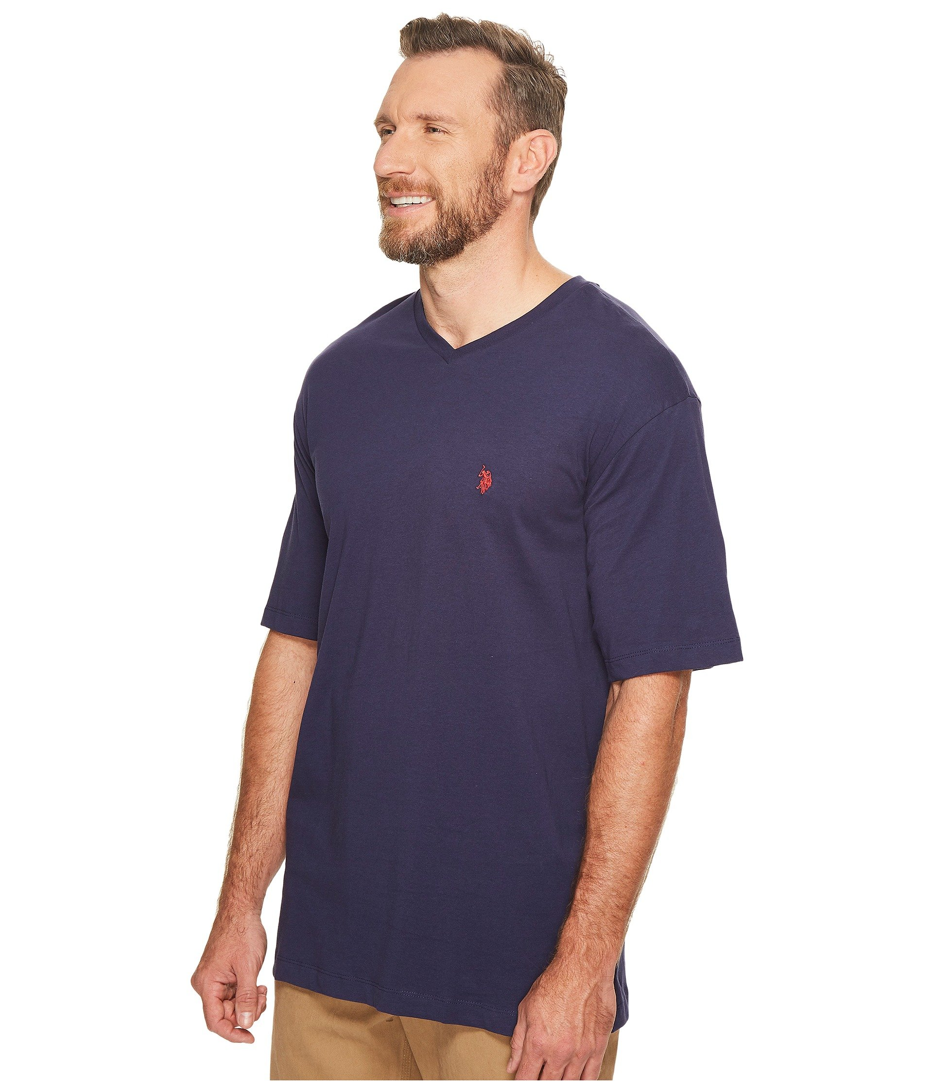 U s polo assn big tall v neck t shirt at 6pm for Tall v neck t shirts