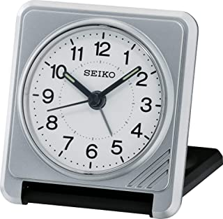 Seiko reseväckarklocka silver plast QHT015S