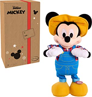 """Disney Junior E-I-Oh! Mickey Mouse, Interactive Plush Toy, Sings """"Old MacDonald"""" and Plays """"What Animal Sound is That?"""" Game"""