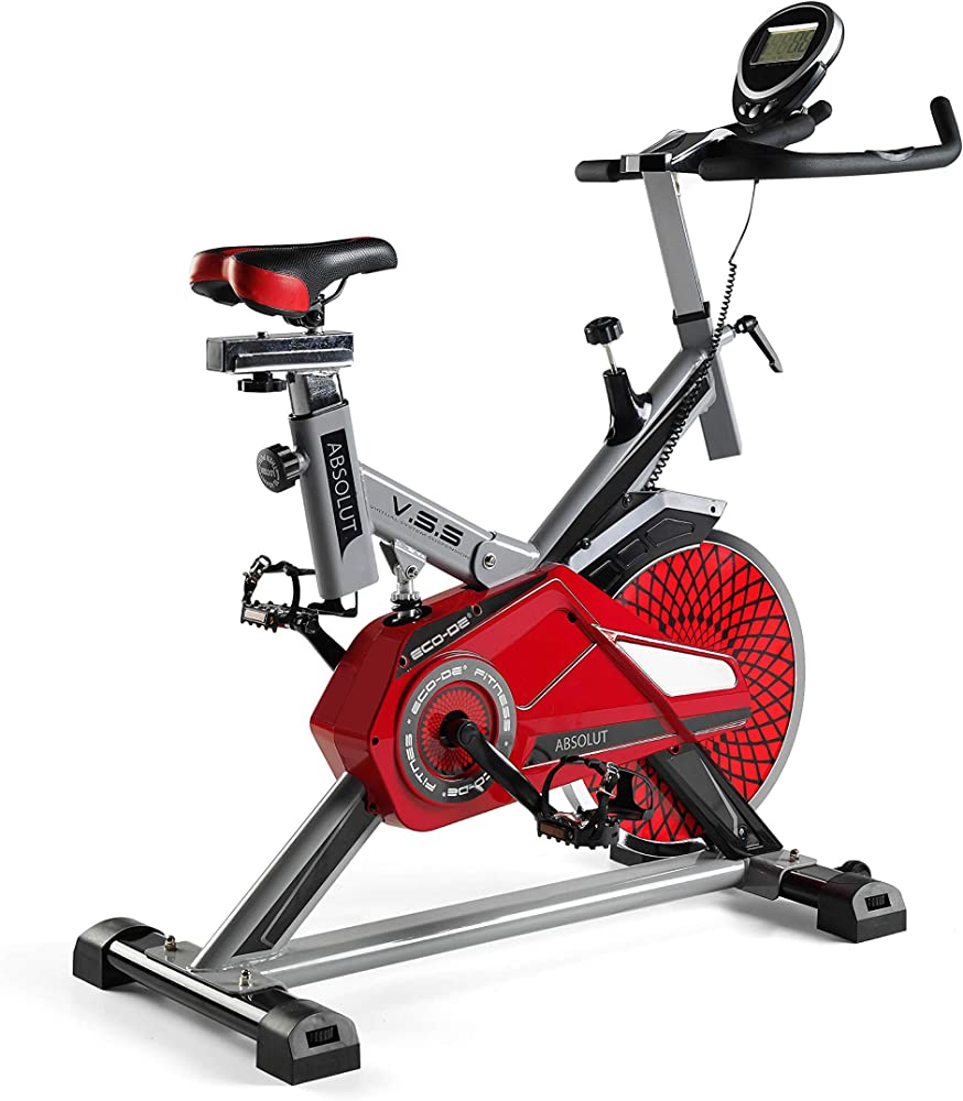 eco-de absolut bicicletta da spinning cyclette con cardiofrequenzimetro schermo lcd e resistenza variabile eco-827