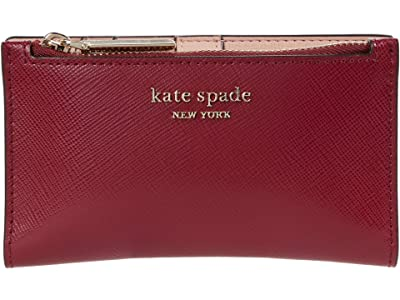 Kate Spade New York Spencer Small Slim Bifold Wallet (Red Currant) Wallet