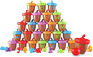 Learning Resources Alphabet Acorns Activity Set, 78 Pieces, Assorted Colors, Ages 3+