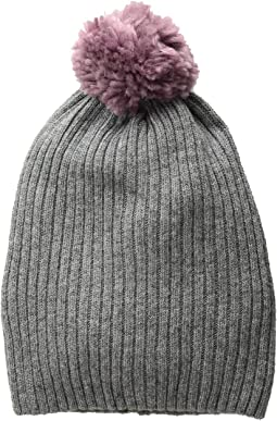 Heather Grey/Lavender Pom