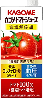 カゴメ カゴメトマトジュース 食塩無添加 1L [機能性表示食品]×6本