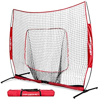 PowerNet 8x8 XLP PRO Net with One Piece Frame   Huge Baseball Softball Hitting Pitching Area   Great for Teams   Batting F...