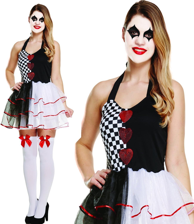 Damen Harlequin Jester Clown Kostüm 34-38 B01LYYKNNB Won hoch geschätzt und weithin Grünraut im in- und Ausland Grünraut    Vorzugspreis