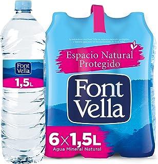 Font Vella, Agua Mineral Natural - Pack 6 x 1,5L