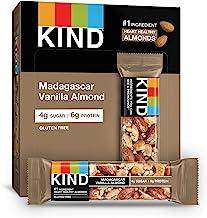 Kind Nut & Spice Bar Dark Madagascar Vanilla Almond 40 g (Pack of 12)