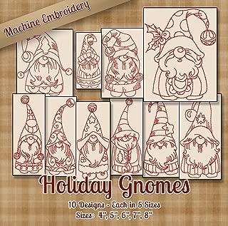 machine embroidery gnomes
