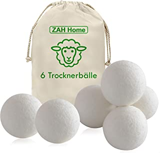 ZAH XXL Trocknerbälle für Wäschetrockner/für Daunenjacken, Trocknerkugeln, Energie..
