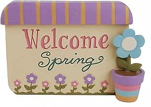 Blossom Bucket Welcome Spring' Plaque W/Flower Home décor