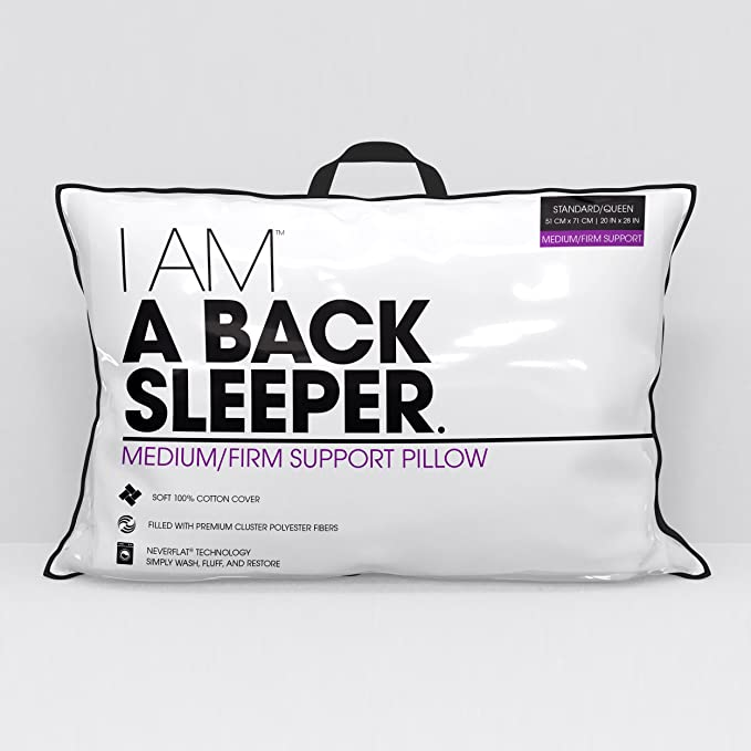 Snuggledown Back Sleeper White Pillow Medium Support for Back and Side