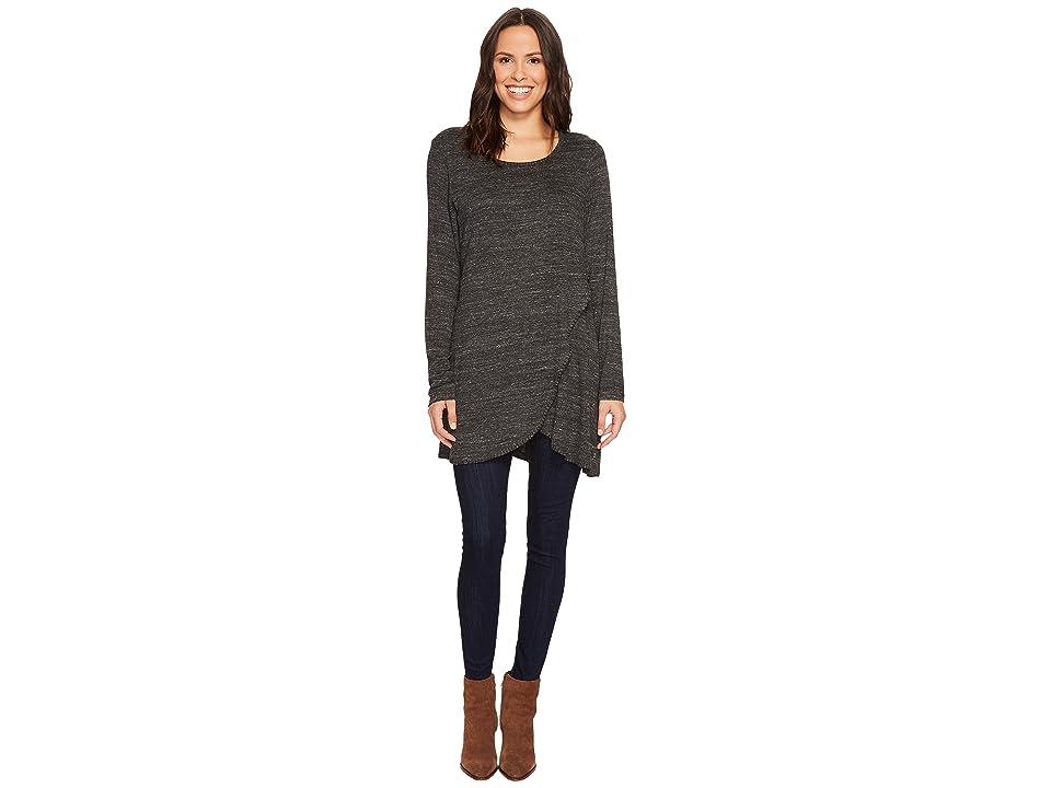 Jag Jeans Poppy Knit Tunic (Black Slub) Women's Long Sleeve Pullover