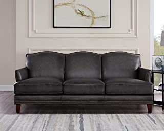 Hydeline Oxford 100% Leather Sofa Set (Sofa, Gray)