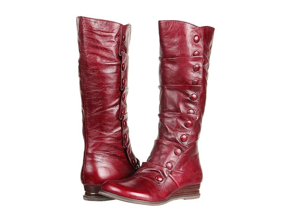 Miz Mooz Bloom (Red) Women's Zip Boots