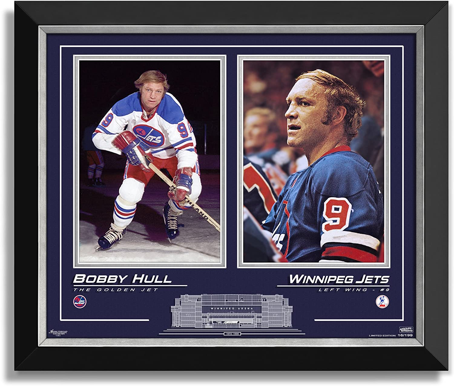 Bobby Hull Winnipeg Jets Limited Edition 16 of 199  Collector Presentation
