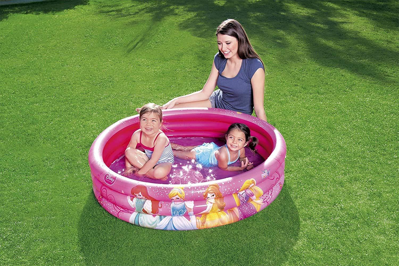 JOVAL® -Pack Piscina refrescante Infantil de Princesas Disney de 122 centímetros de diámetro, con Manguitos y Pelota incluidos. para Jardin terraza o casa…: Amazon.es: Jardín