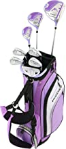 Precise M3 Ladies Womens Complete Golf Clubs Set Includes Driver, Fairway, Hybrid, 7-PW Irons, Putter, Stand Bag, 3 H/C's Purple - Regular, Petite or Tall Size!