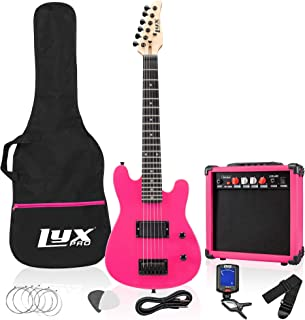 LyxPro 30 Inch Electric Guitar and Starter Kit Bundle for Kids with 3/4 Size Beginner's..