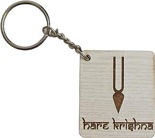 ISKCON Tilak -Hare Krishna Key Ring (White)- VRINDAVANBAZAAR.COM