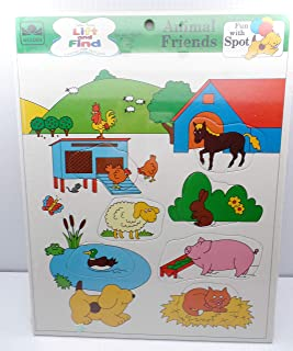 Golden Books Frame Tray Puzzle Animal Friends Fun with Spot 10700 USA 3 & Up