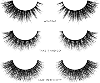 Velour Lashes - Cat Eye Collection (3 Pairs of Mink Lashes) - Fake/False Natural Eyelashes - Long Lasting 25+ Applications - Natural & Lightweight - Ethically Sourced - Easy Application