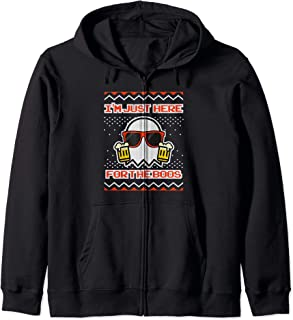 I'm Just Here For The Boos Funny Ugly Halloween Zip Hoodie