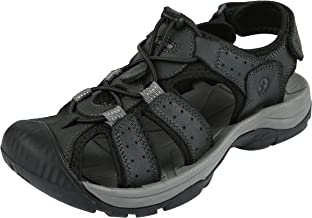 Northside Mens Trinidad Leather Sport Closed Toe Sandal
