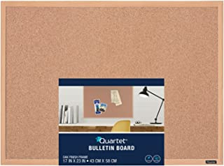 Quartet Corkboard, Framed Bulletin Board, 17