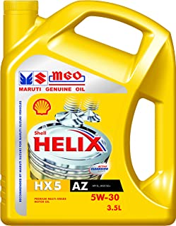 Shell Helix HX5 550039350 MGO 5W-30 API SL Mineral Engine Oil (3.5 L)