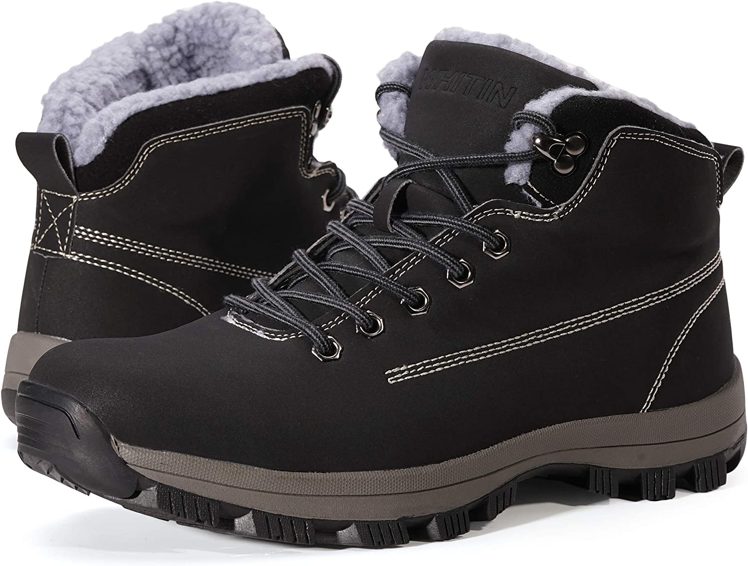 WHITIN Las Vegas Memphis Mall Mall Men's Waterproof Cold-Weather Boots