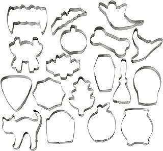 Wilton Halloween Metal Cookie Cutter Set, 18-Piece